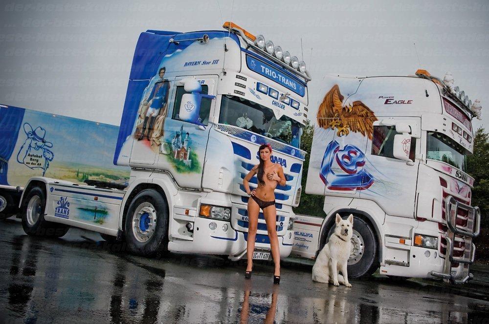 Девушка сексуальная грузовик и